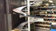Convoyage + Toboggan industriel – Vue du bas – METALINOX