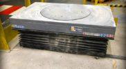 Table élévatrice avec plateau rotatif et soufflet de protection – SODILEVE